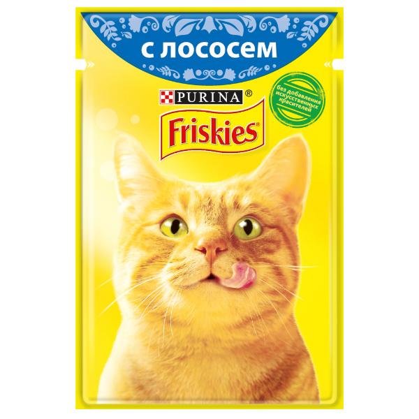 غذای پوچ گربه فریسکیز مدل Salmon وزن 85 گرم