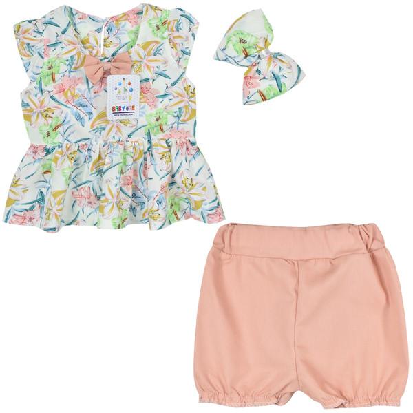 ست 3 تکه لباس نوزادی بی بی وان مدل هاوایی کد 2