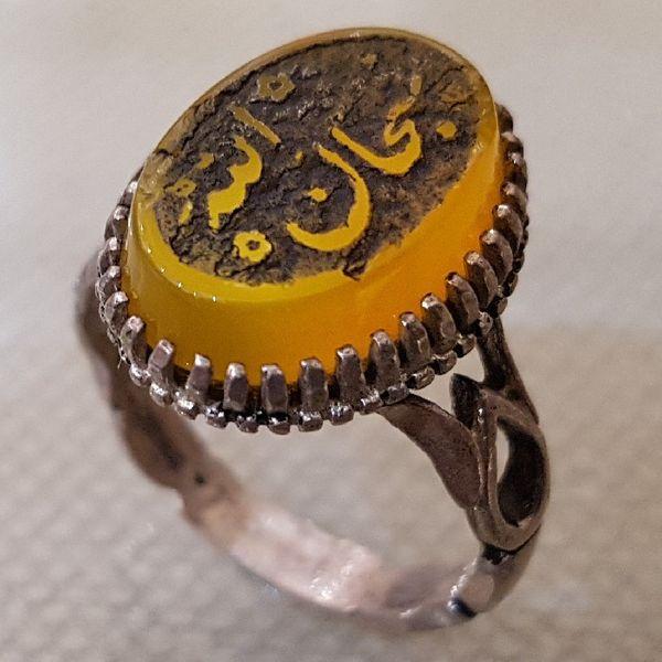 انگشتر نقره مردانه مدل سبحان الله کد PF1542
