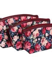 کیف لوازم آرایش زنانه سیب کد 15-Bgf مجموعه 3 عددی -  - 1