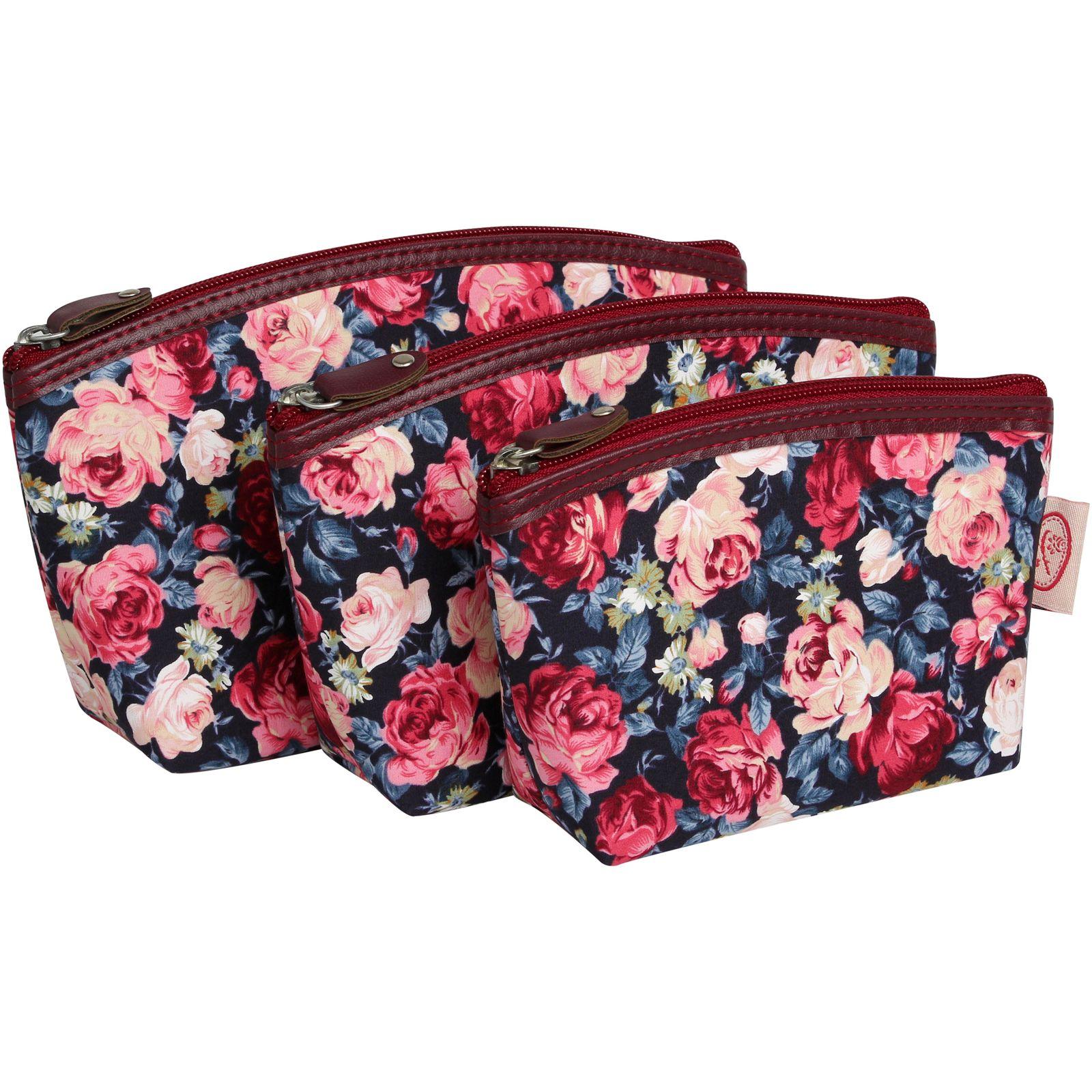 کیف لوازم آرایش زنانه سیب کد 15-Bgf مجموعه 3 عددی -  - 2