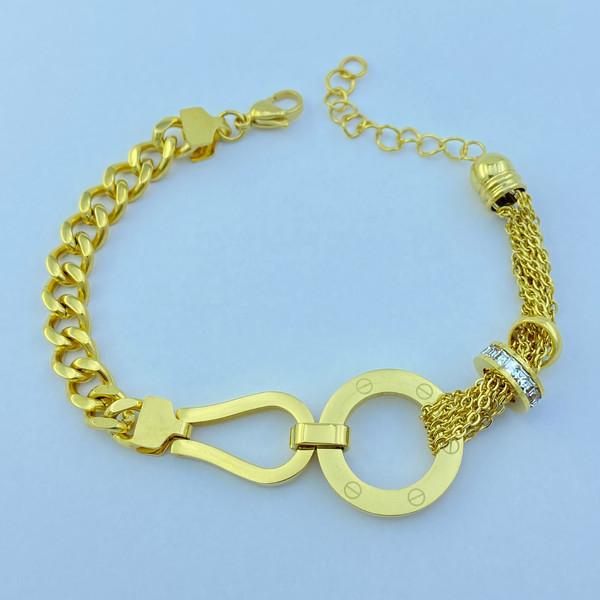 دستبند زنانه استینلس استیل مدل دایره کد B3206