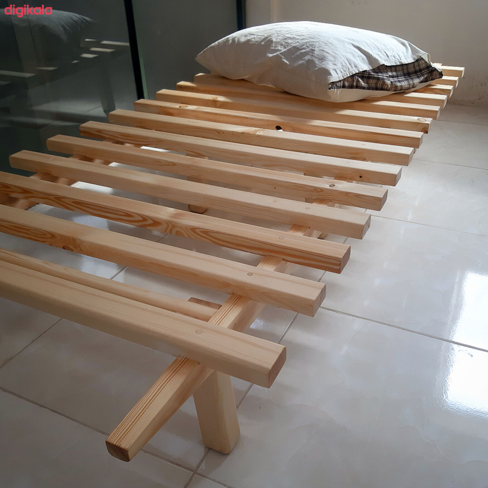 تخت خواب یک نفره مدل مینیمال سایز ۱۹۸ × ۹۰ سانتی متر main 1 2