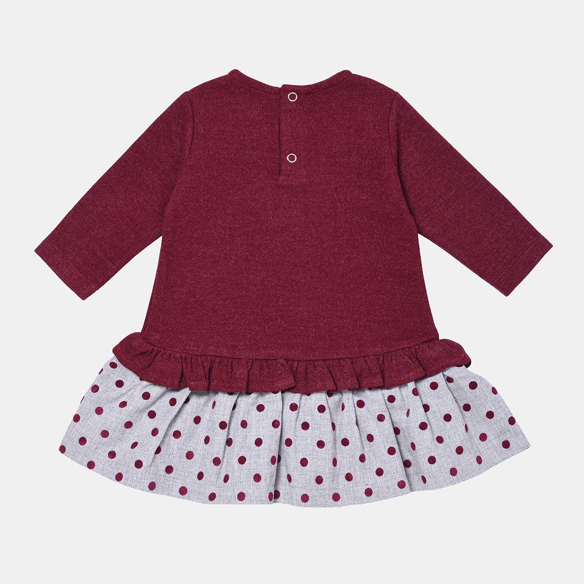 پیراهن دخترانه فیورلا مدل  خرس خالدار  کد 31515 -  - 3