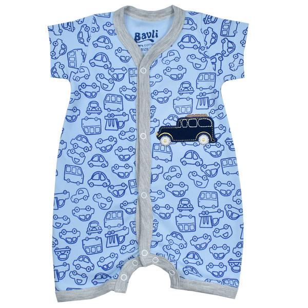 سرهمی نوزادی باولی مدل ماشین رنگ آبی