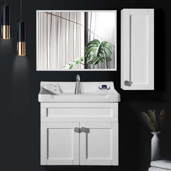 ست کابینت و روشویی مدل ساترون به همراه آینه و باکس