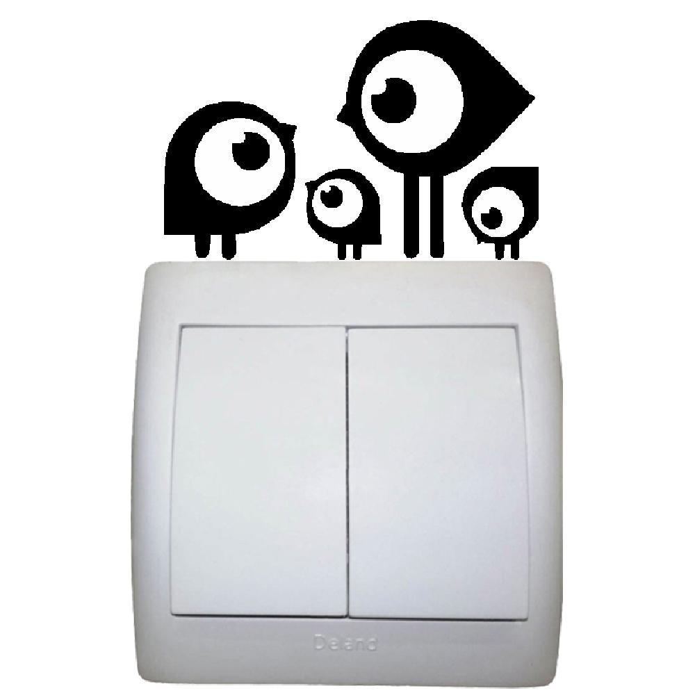 استیکر فراگراف   کلید و پریز FG طرح پرنده کد 059