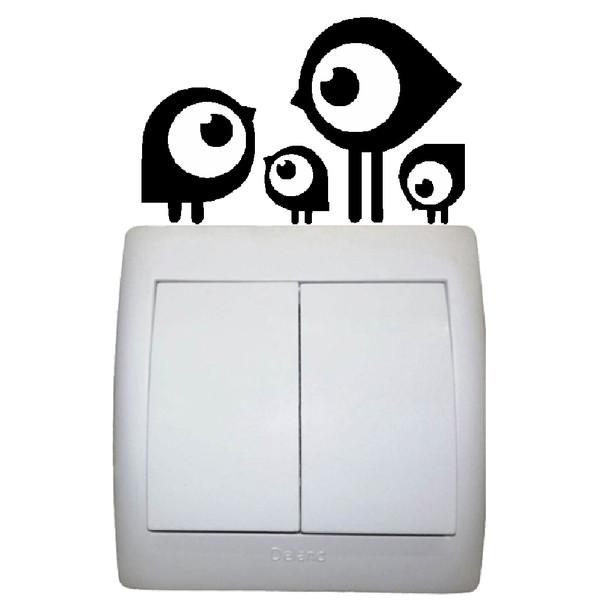 استیکر  کلید و پریز مستر راد طرح پرنده کد 059