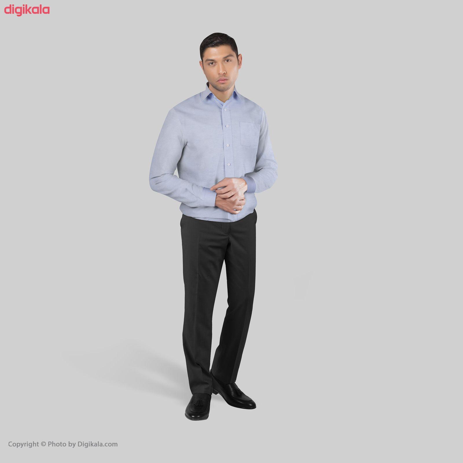 پیراهن آستین بلند مردانه ناوالس مدل NOx8020-BL main 1 1