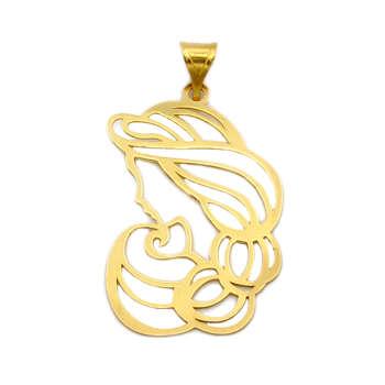آویز گردنبند طلا 18 عیار زنانه کاپانی طرح مادر کد KP010