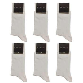 جوراب مردانه کادنو کد CA1101 رنگ سفید بسته 6 عددی
