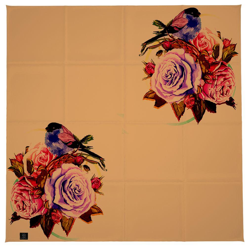 روسری زنانه 27 طرح پرنده و گل کد H06