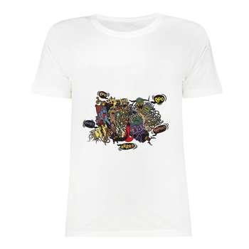 تی شرت آستین کوتاه زنانه مدل TK01-333