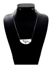 گردنبند نقره زنانه دلی جم کد D 95 -  - 1