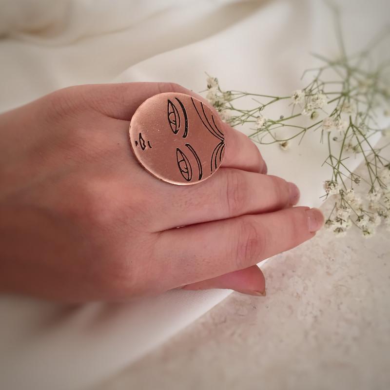 انگشتر زنانه دستخط کد 210