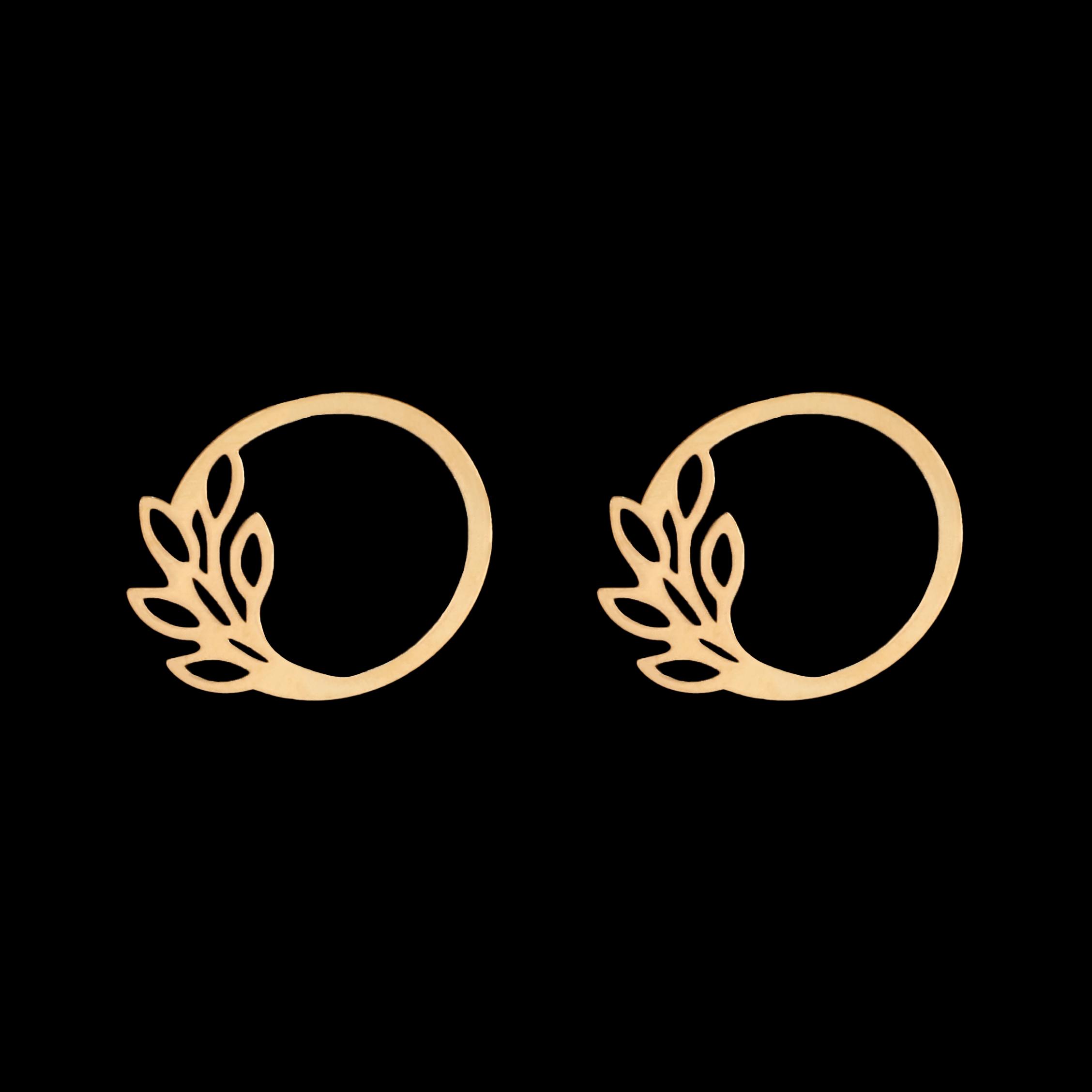 گوشواره طلا 18 عیار زنانه آمانژ مدل گل کد D10222