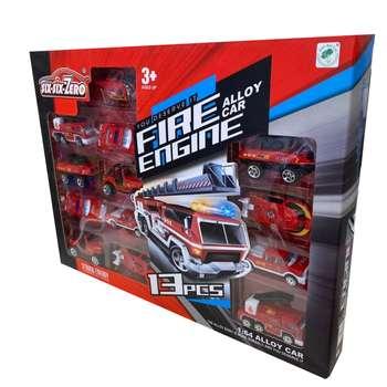 ماشین بازی مدل آتش نشانی کد 125 مجموعه 13 عددی