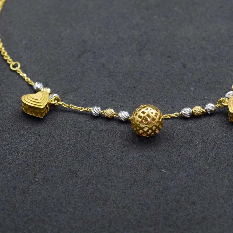 پابند طلا 18 عیار زنانه کانیار گالری مدل SH12