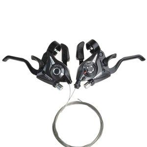 دسته دنده دوچرخه شیمانو مدل ST-EF51-3Lx7R بسته 2 عددی