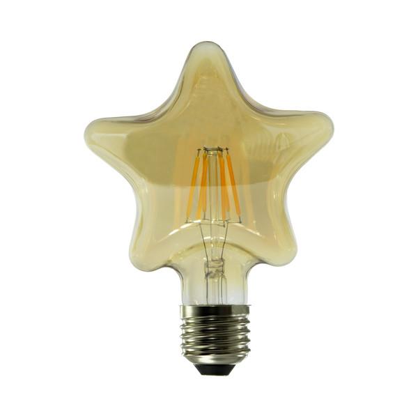 لامپ فیلامنتی 6 وات طرح ستاره پایه E27