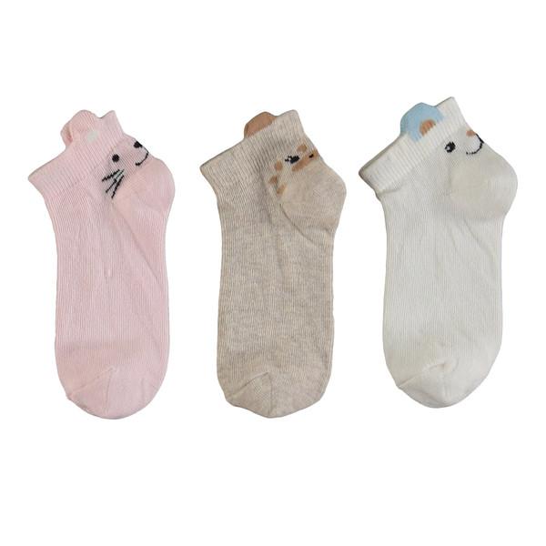 جوراب دخترانه ال سی وایکیکی کد 0S7497Z4 مجموعه 3 عددی