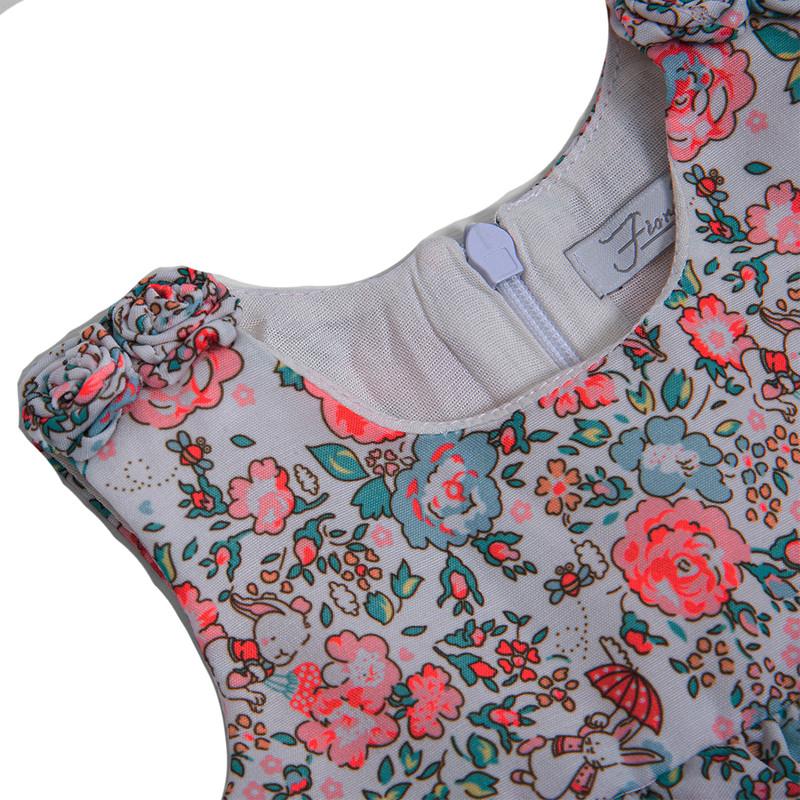 ست پیراهن و شورت نوزادی دخترانه فیورلا مدل 21006