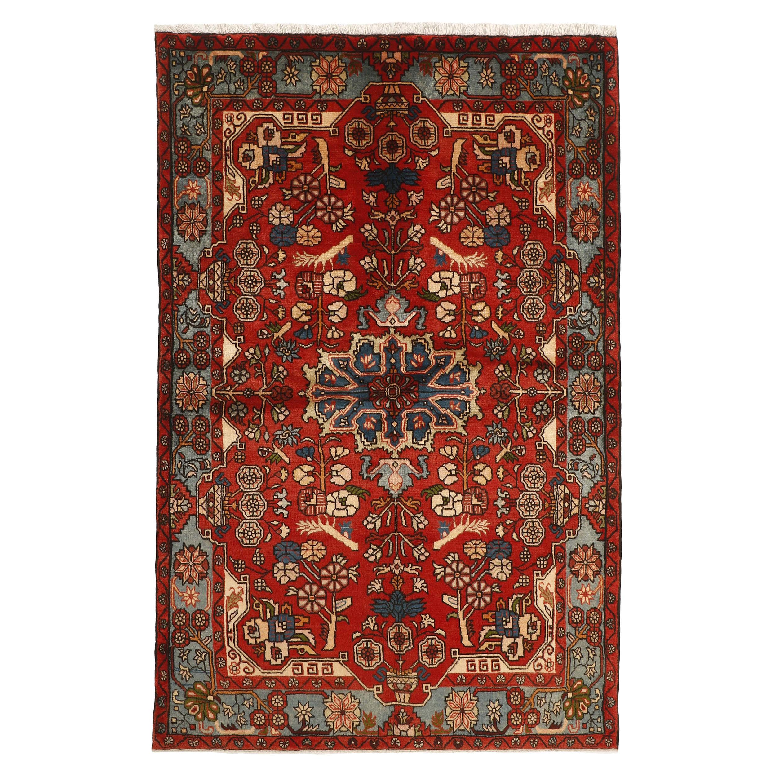 فرش دستبافت سه و نیم متری مدل نهاوند ایلیاتی کد 521116