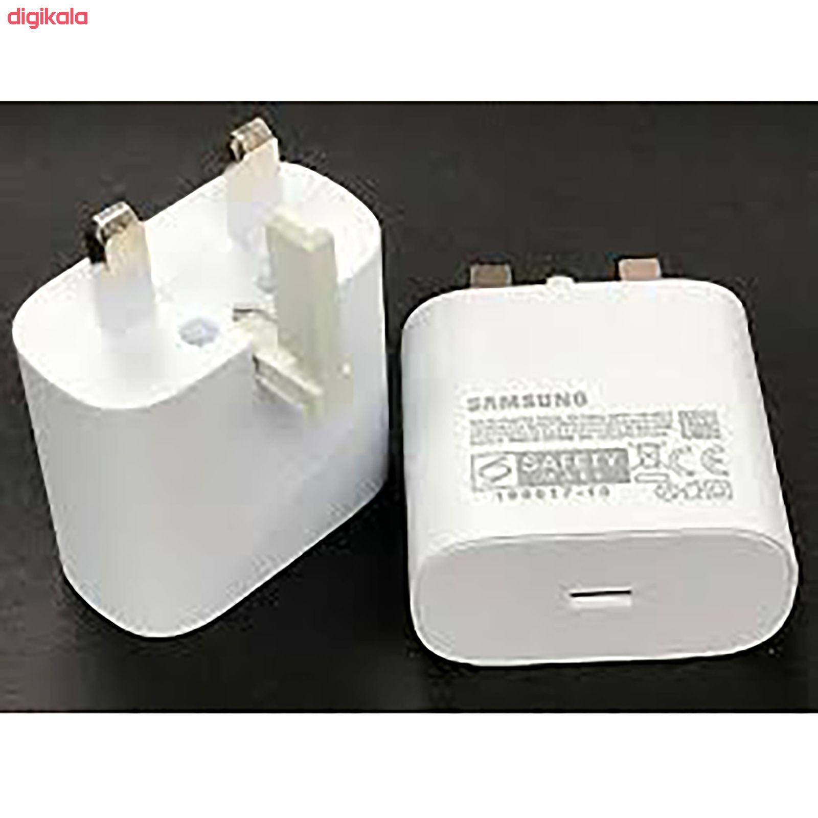 شارژر دیواری سامسونگ مدل EP-TA800 به همراه کابل تبدیل USB-C main 1 9