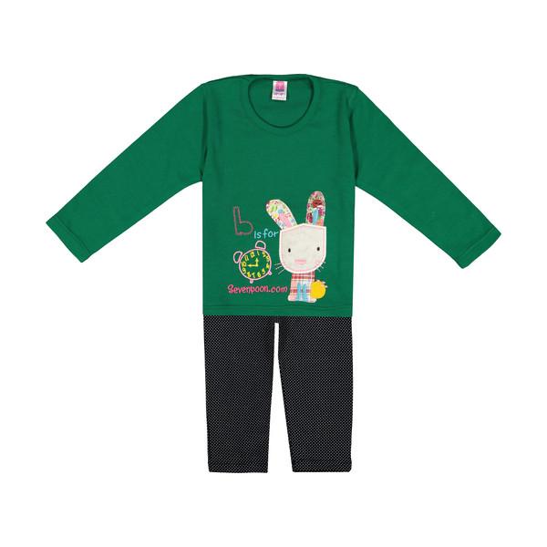 ست تی شرت و شلوار دخترانه سون پون مدل 1391415-44