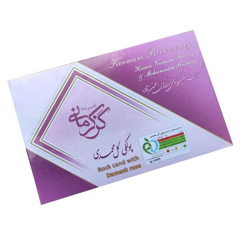 پولکی گل محمدی گز کرمانی - 450 گرم