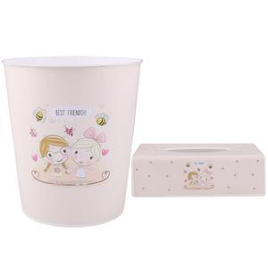 کاور دستمال کاغذی و سطل کودک طرح دختر کد 2113