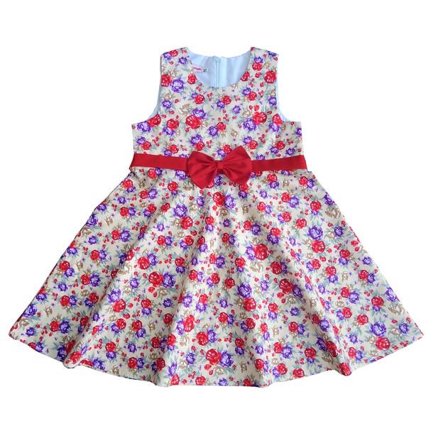 پیراهن دخترانه  طرح گل کد 1