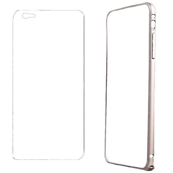 بامپر مدل LF156 مناسب برای گوشی موبایل اپل iPhone 6/6S به همراه محافظ پشت گوشی