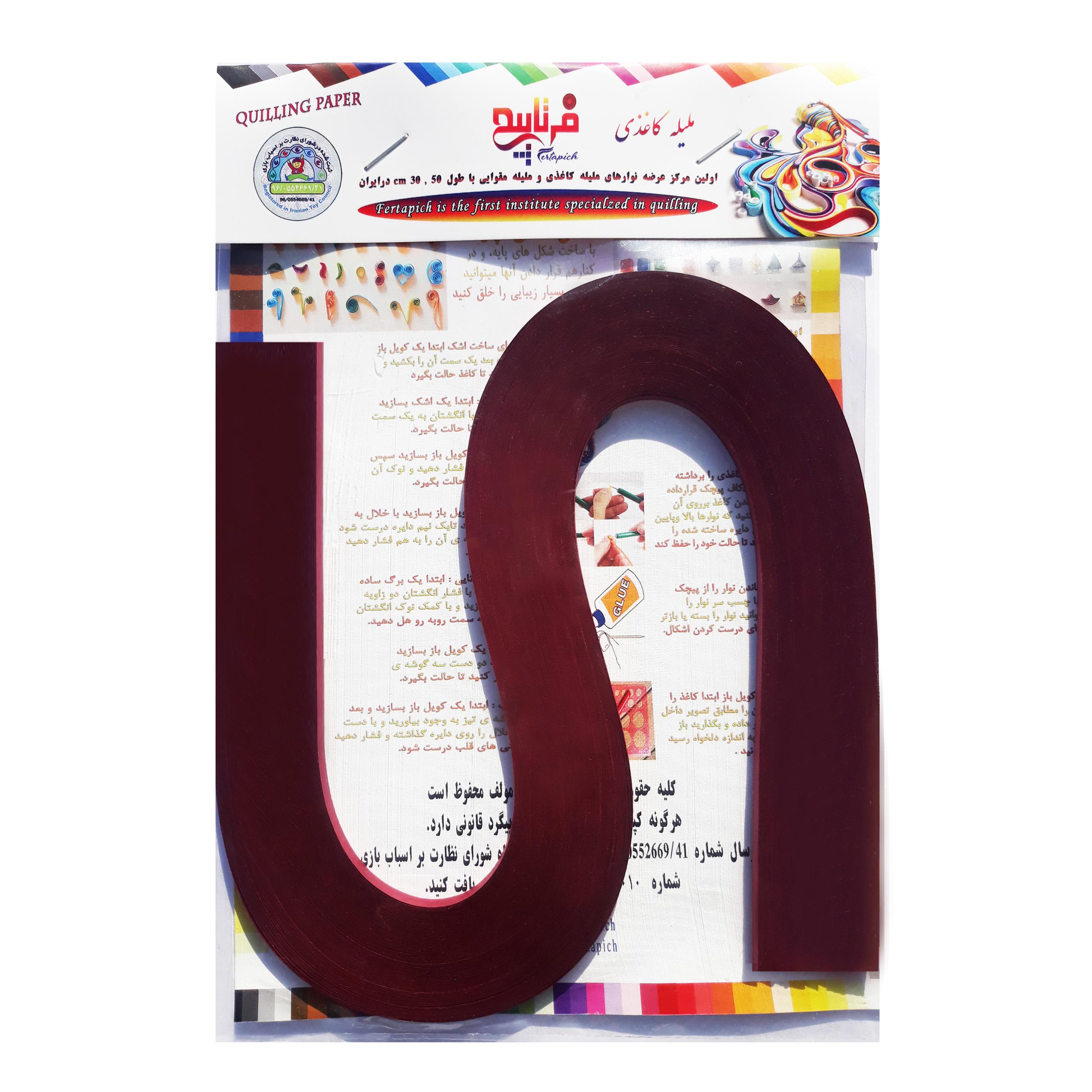 نوار ملیله کاغذی فرتاپیچ کد 35.5 بسته 100 عددی