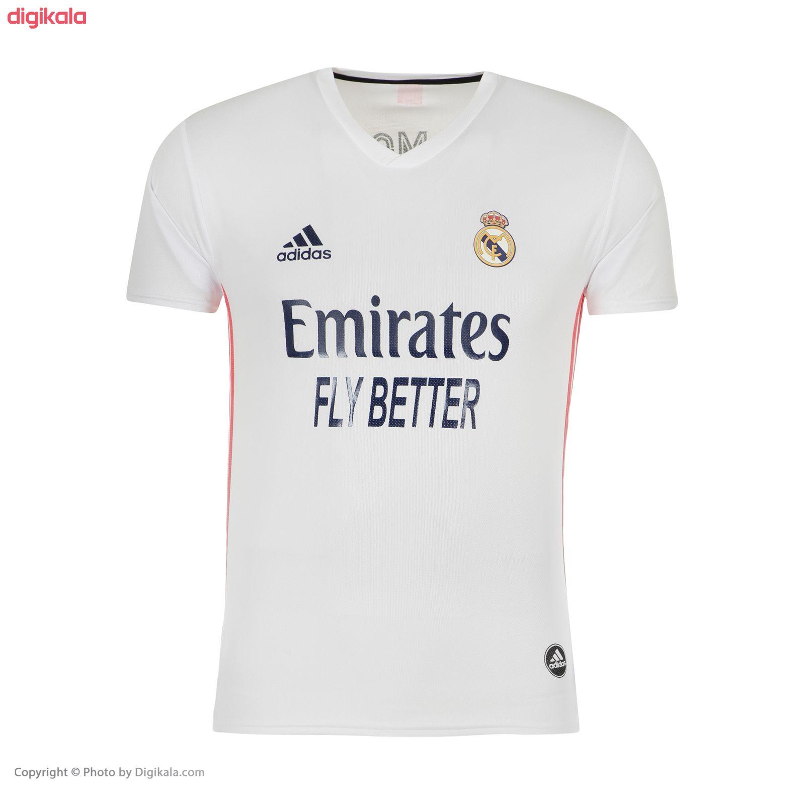 ست پیراهن و شورت ورزشی پسرانه طرح تیم رئال مادرید مدل 2021 main 1 1