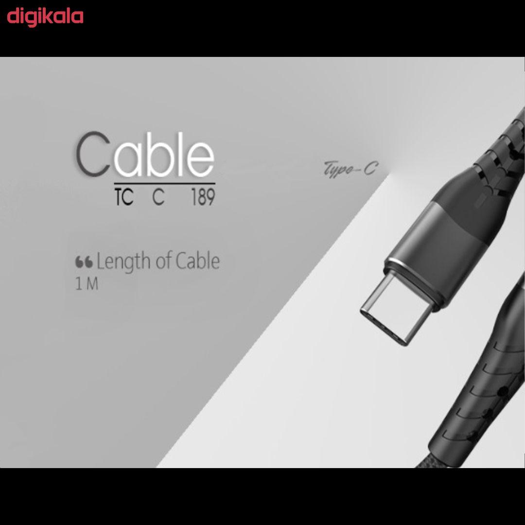 کابل تبدیل USB به USB-C تسکو مدل TCC189 طول 1 متر main 1 3