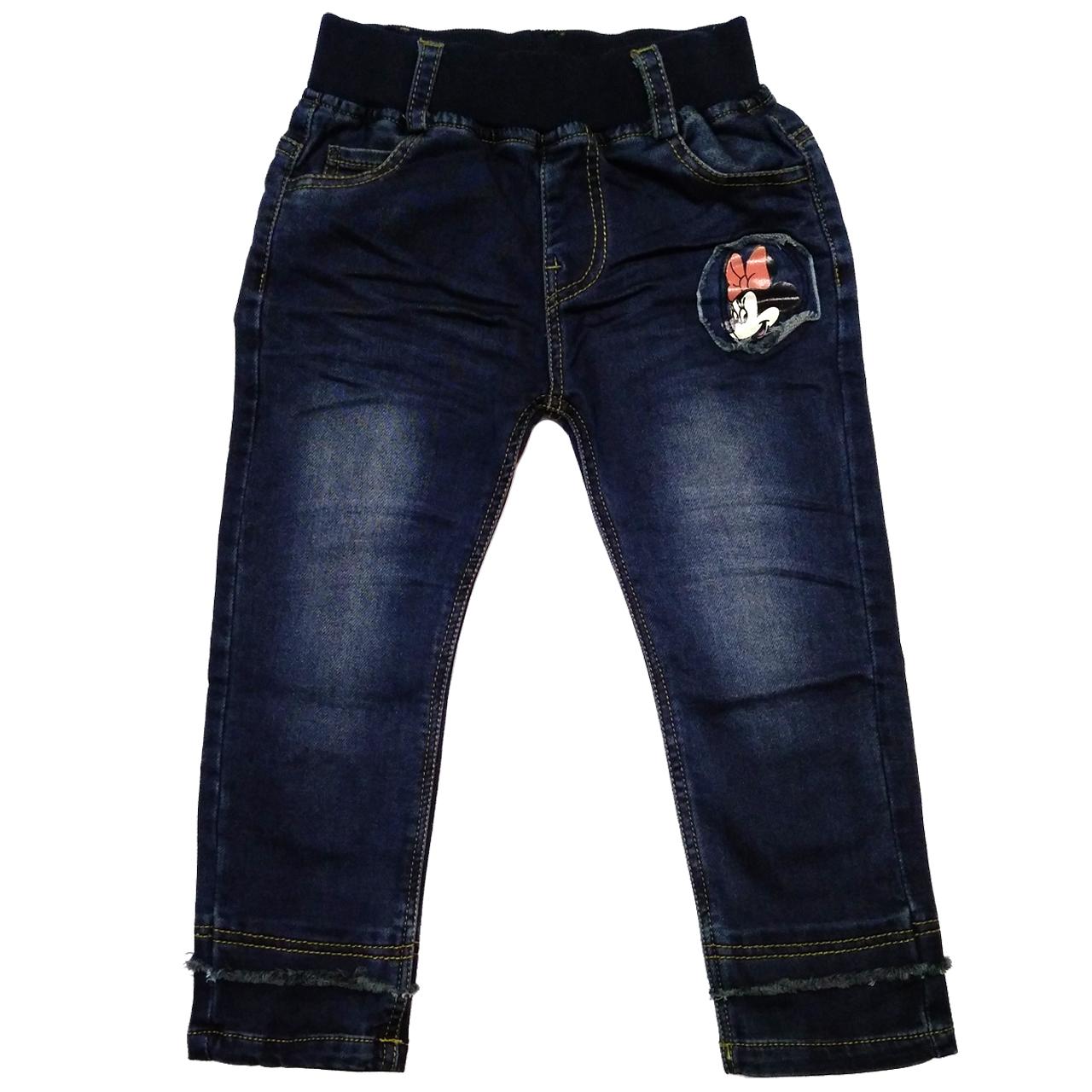 شلوار جین بچگانه طرح میکی موس کد M498