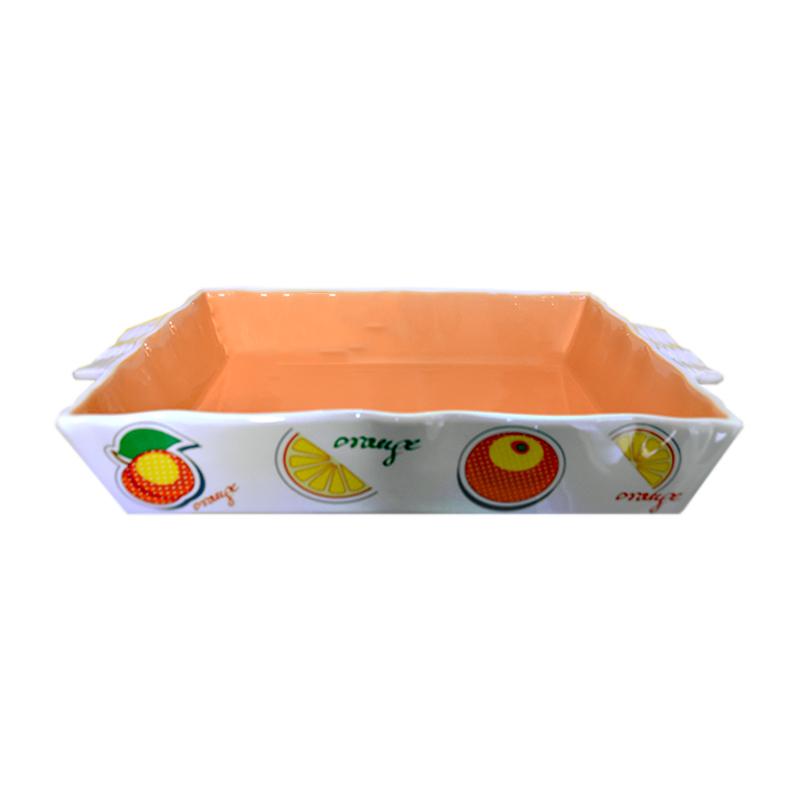 ظرف پخت و پز زاراهوم طرح پرتقال مدل 3714 مجموعه 3 عددی