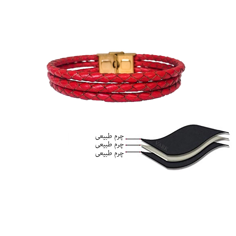 دستبند چرم وارک مدل دایان کد rb313 main 1 8