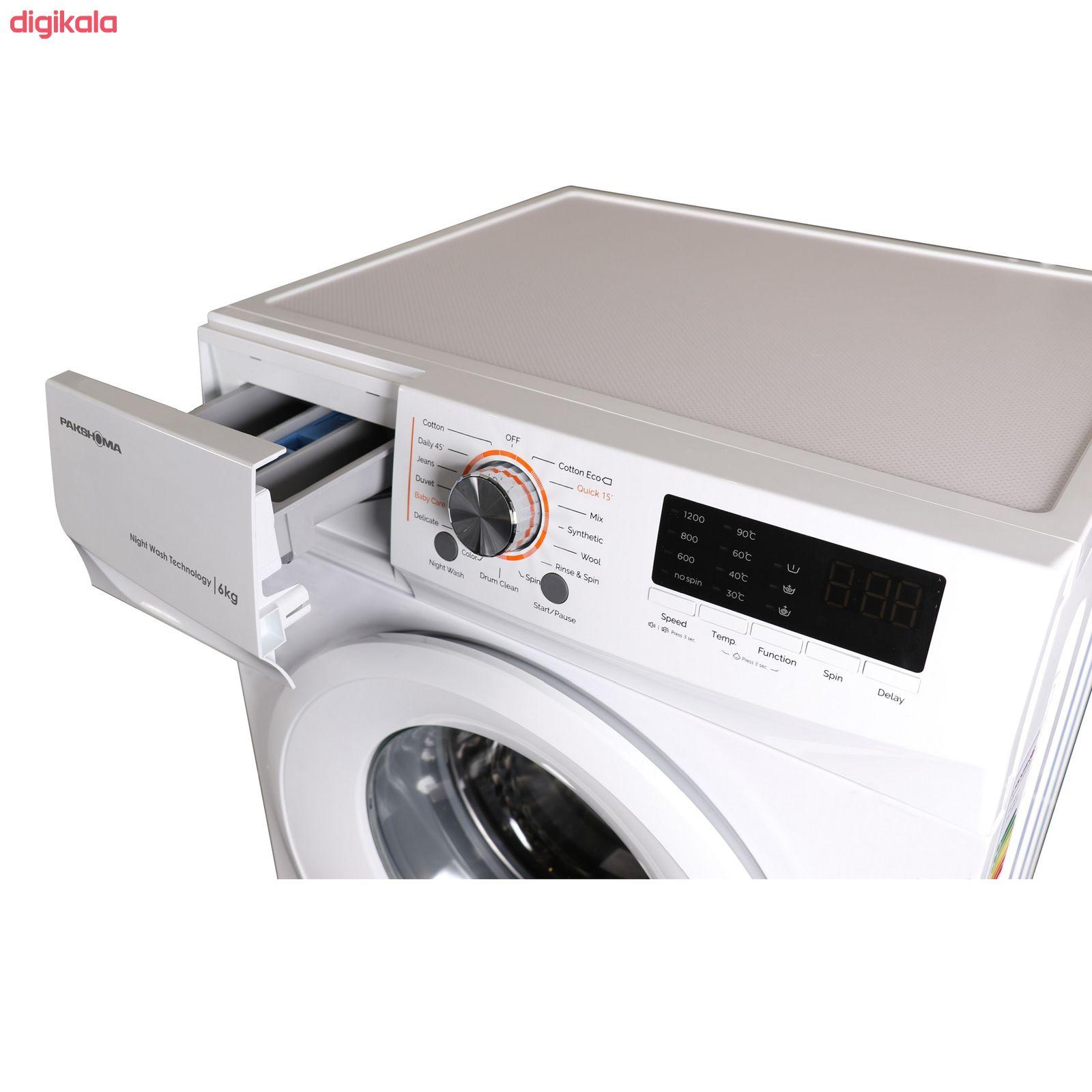 ماشین لباسشویی پاکشوما مدل TFU-63100 ظرفیت 6 کیلوگرم main 1 2