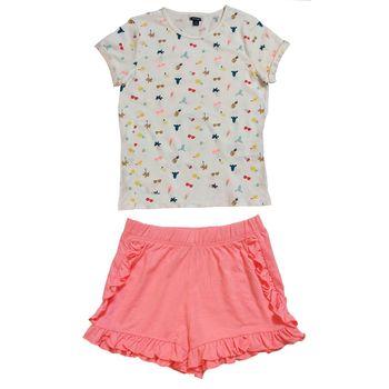 ست تی شرت و شلوارک دخترانه کیابی کد mchbp0023