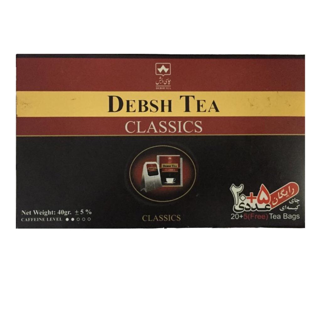 چاي كيسه اي دبش بسته ٢٥ عددي