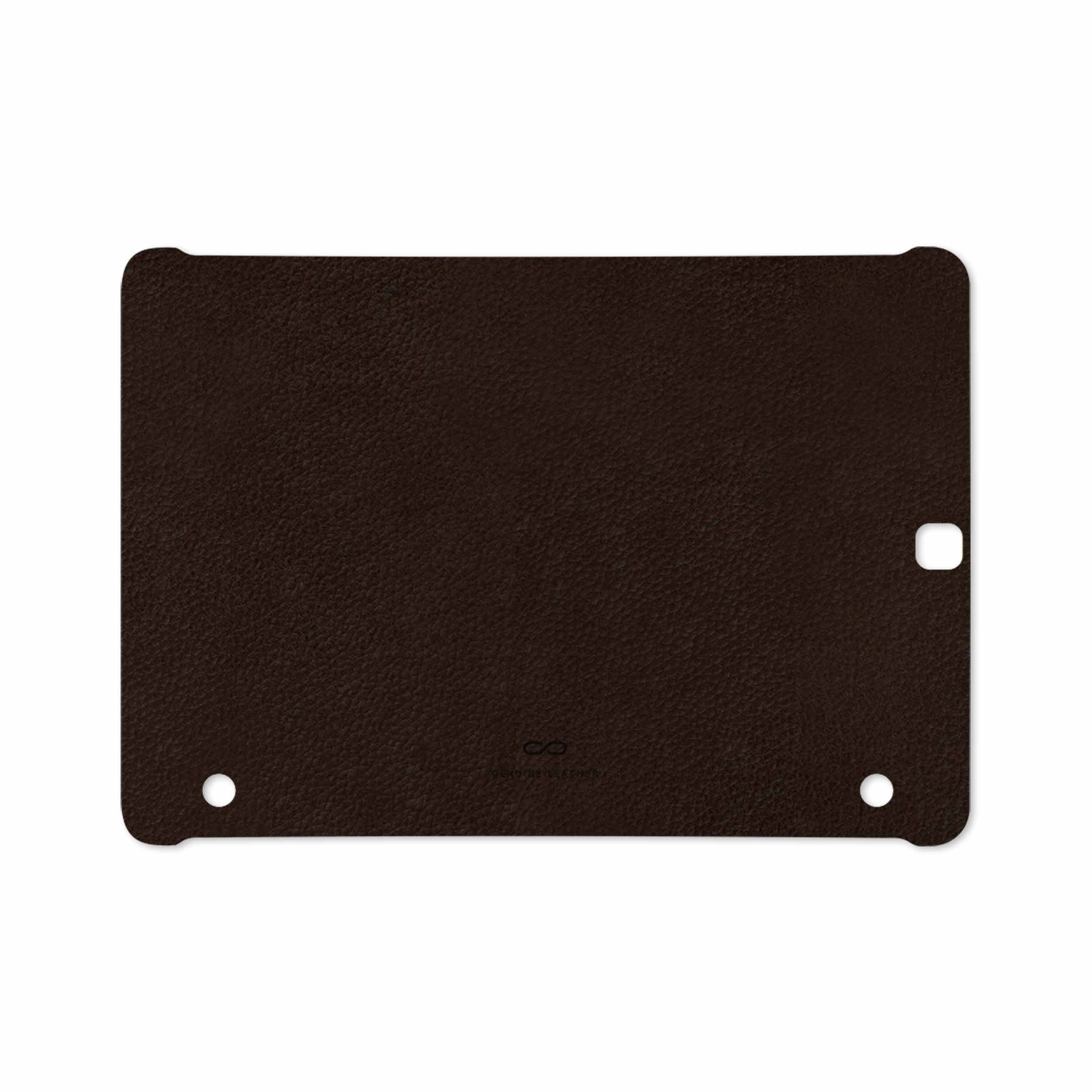 بررسی و خرید [با تخفیف]                                     برچسب پوششی ماهوت مدل Dark-Brown-Leather مناسب برای تبلت سامسونگ Galaxy Tab S2 9.7 2016 T813N                             اورجینال