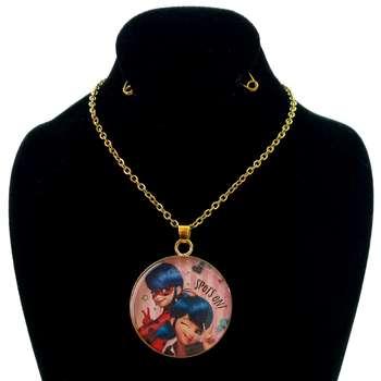گردنبند دخترانه طرح دختر کفشدوزکی کد 117