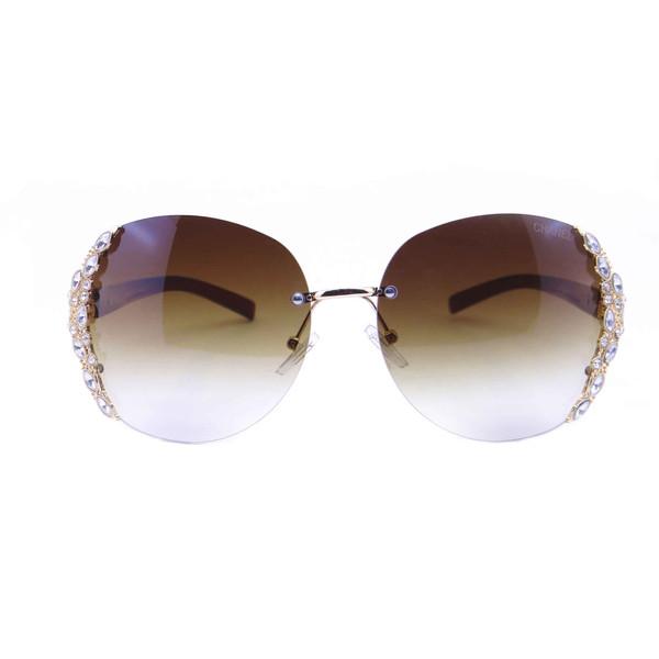 عینک آفتابی زنانه شانل مدل 1831 رنگ قهوه ای