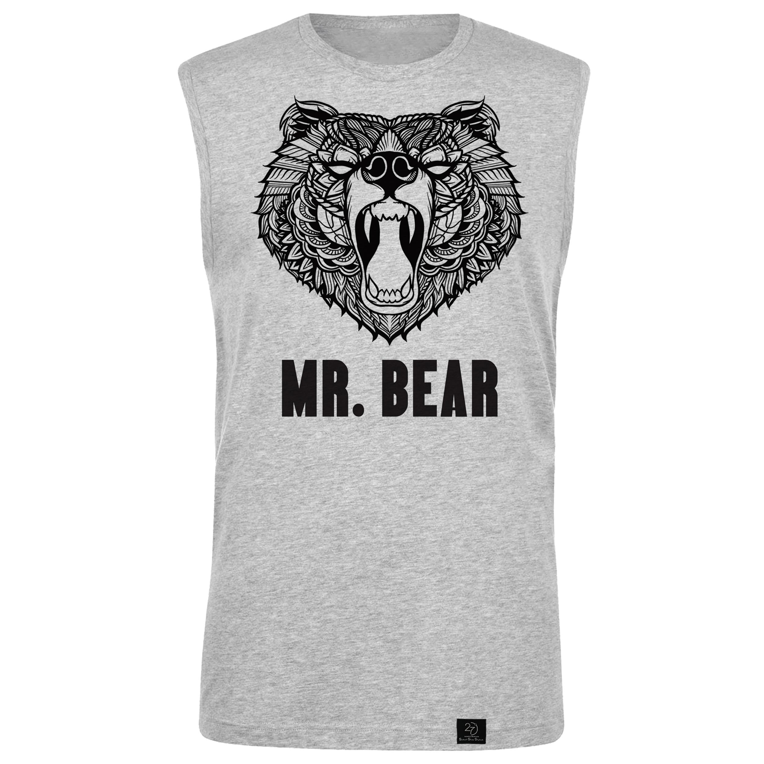 تاپ مردانه 27 مدل Bear کد B14 رنگ طوسی
