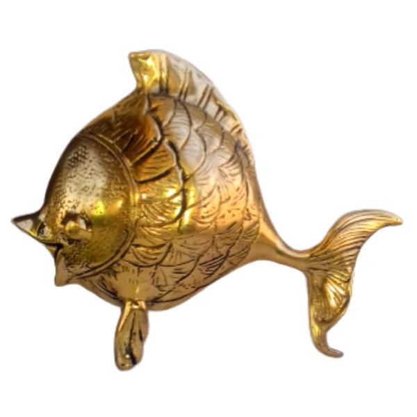مجسمه برنجی مدل ماهی