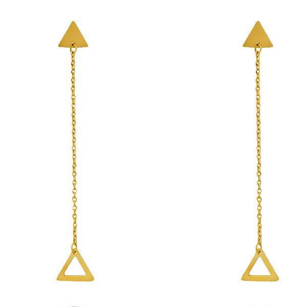 گوشواره طلا 18 عیار زنانه آمانژ کد D9214