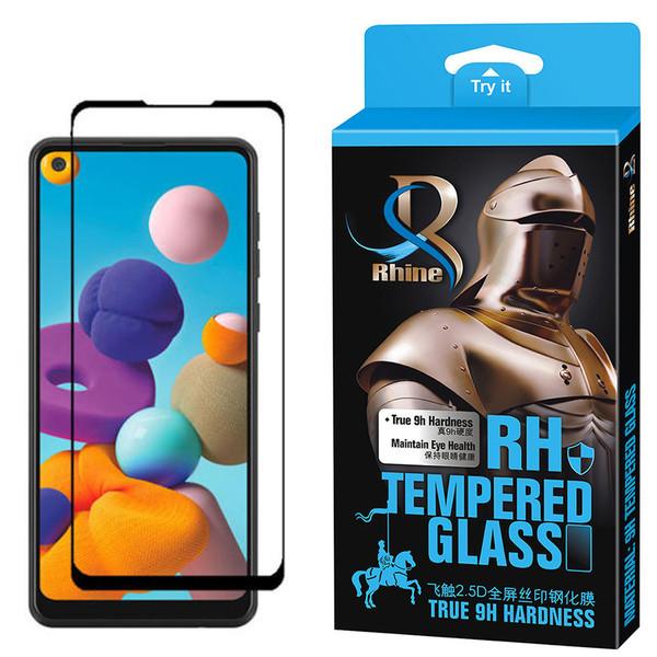 محافظ صفحه نمایش 9D راین مدل R-9 مناسب برای گوشی موبایل سامسونگ Galaxy A21s