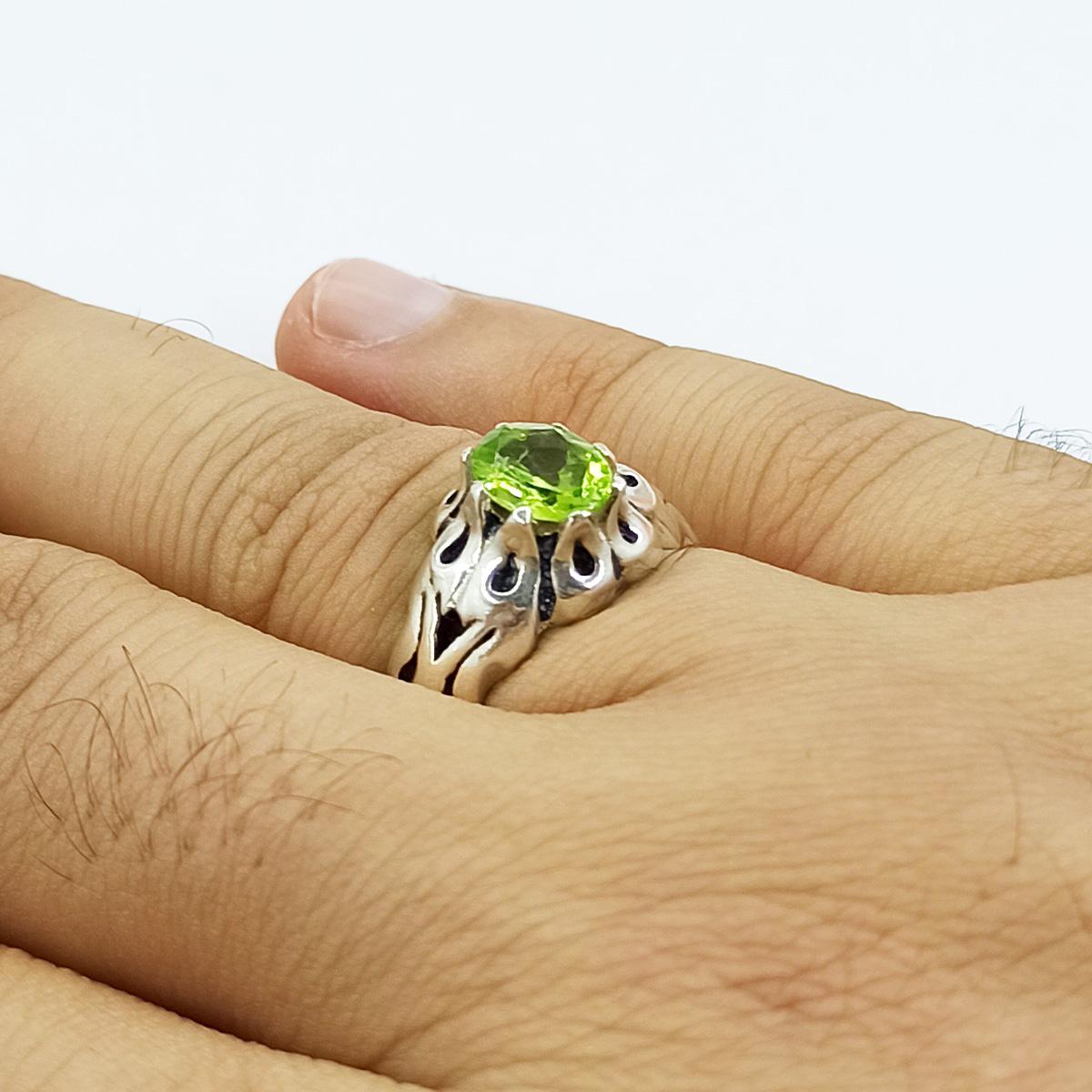 انگشتر نقره مردانه سلین کالا مدل زبرجد ce-As175